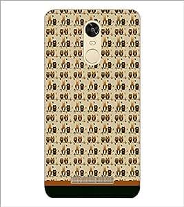 PrintDhaba Owl Pattern D-1703 Back Case Cover for XIAOMI REDMI NOTE 3 MEDIATEK (Multi-Coloured)