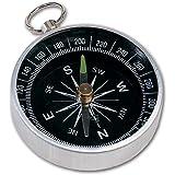 Kompass mit Ring zum Befestigen am Schlüssel - Durchmesser ca. 4,4 cm - Aluminium