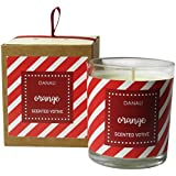Danali New York Christmas Gift Votive Candle With Orange Fragrance