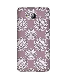 White Mandala Pattern Samsung Galaxy On7 Case
