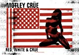 Motley Crue Textile Flag - Red White & Crue (IMPORT)