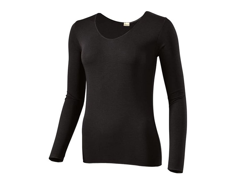 Jolinesse Damen Unterhemd Lang mit Klimafunktion Farbe Schwarz In verschiedenen Größen