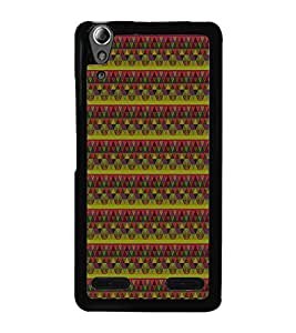 Colourful Pattern 2D Hard Polycarbonate Designer Back Case Cover for Lenovo A6000 :: Lenovo A6000 Plus :: Lenovo A6000+