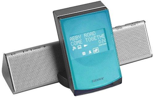 Sony CPF IX 001 Tragbares Lautsprecher-System für MP3-Player NW-S700 oder PC silber