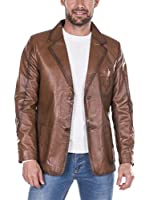 GIORGIO DI MARE Cazadora Piel Leather Jacket (Marrón)