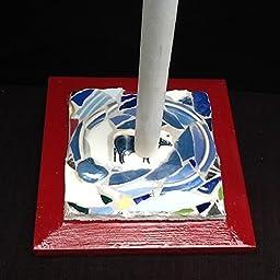 Cow Mosaic Wood Paper Towel Holder