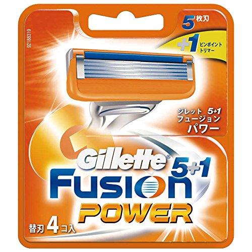 ジレット フュージョン5+1パワー専用替刃 4個入