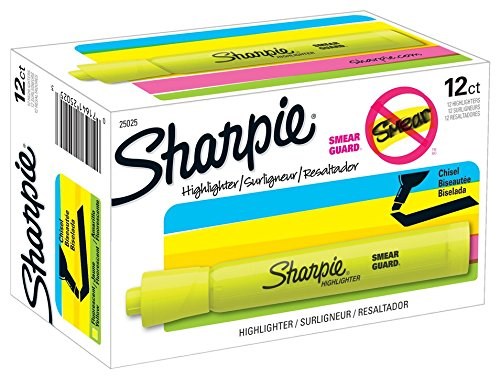 sharpie-tank-highlighters-chisel-tip-fluorescent-yellow-12-count