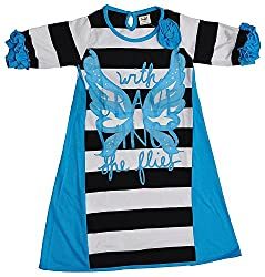 Pinehill Girls' Dress (Multi-Colour, 9-10 Years)