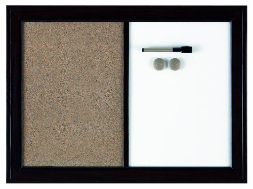 Quartet Home Decor Combination Board, 17 X 23 Inches, Dry-Erase/Cork, Two-Tone Frame, Assorted Colors (Hdc1723Bm)
