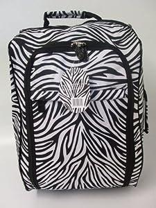 Funky Zebra Print 40l Borderline 2 Wheeled Super Lightweight Hand Luggage Holdall Onboard Flight Bag Cabin Suitcase from Borderline