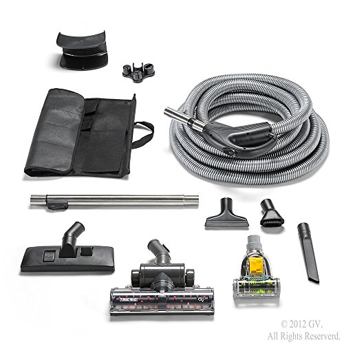 GV Central Vacuum Hose Kit fits ALL systems Turbo Head Tools Warranty & More (Central Vacuum Handle Parts compare prices)