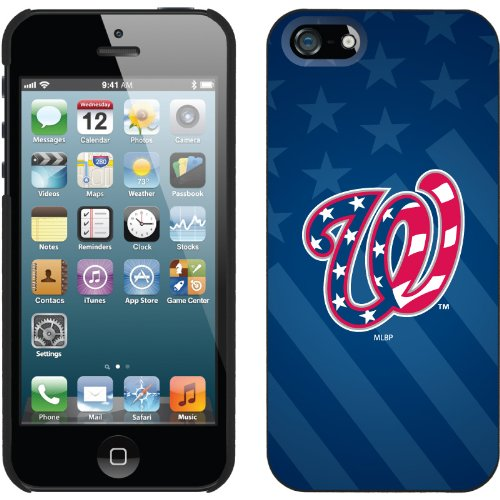 Special Sale Washington Nationals - USA Blue design on a Black iPhone 5 Thinshield Snap-On Case by Coveroo