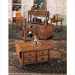 Peters-Revington Carlton End Table with Drop-Leaf in Oak 1524