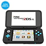TNP New Nintendo 2DS XL Silicone Case - Soft Rubber Protective Grip Cover Sleeve Game Console Skin Guard Non-slip Comfort Gel Ergonomic Controller Shell Accessories For New 2DS XL LL (Black)