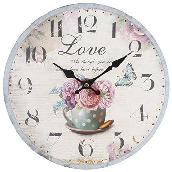 Decorazione shabby chic orologio da parete stile vintage - Orologi da parete shabby chic ...