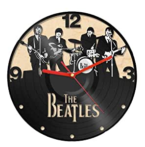 Clock Vinyl Record Recycled Wall Home Living Room Decor The Beatles Band Home