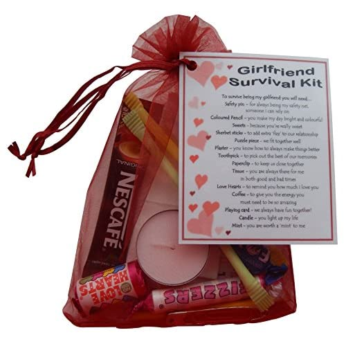 Girlfriend Survival Kit Gift (Great novelty present for Birthday, Christmas, Anniversary or just because...)