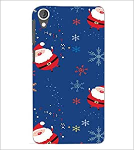 PrintDhaba Santa Claus D-2230 Back Case Cover for HTC DESIRE 820 (Multi-Coloured)