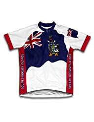 South Georgia And The South Sandwich Islands Flag Short Sleeve Cycling Jersey for Women