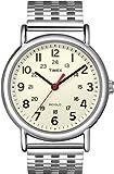 Timex Unisex T2N656 Weekender Cream Dial Stainless Steel Bracelet Watch