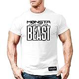 Monsta Clothing Co. Men's Monsta-BEAST T-shirt Large White
