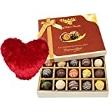 Valentine Chocholik's Belgium Chocolates - Prestige Truffles Collection With Heart Pillow