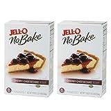 ジェロー ノー・ベイク チェリー チーズケーキ 2箱セット Jell-O No Bake Dessert Mix Cheesecake