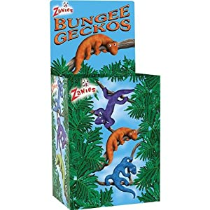 Zanies Cardboard Bungee Geckos Display Box