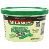 Milano's Parmesan Cheese Deli Cups, Imported Grated, 8 Ounce