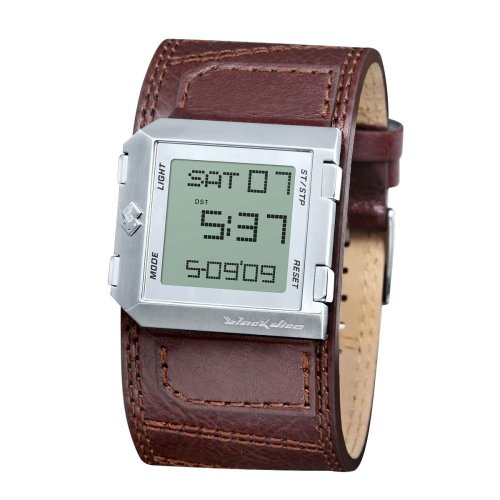 Black Dice BD-004-02 Gents Digital Brown Leather Strap Watch