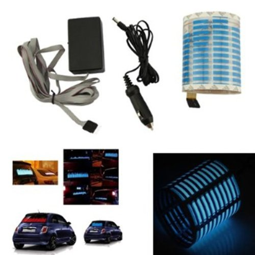 AGPtek® Sound Music Activated Voice Changed Car Stickers Blue LED Light Equalizer Glow 80*19cm Soft and Thin