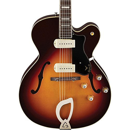 Guild Newark St. X-175 Manhattan Hollow Body Electric Guitar - Sunburst With Case