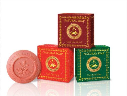 3 Boxes Assorted Madame Heng Natural Beauty Spa Soap Made in Thailand