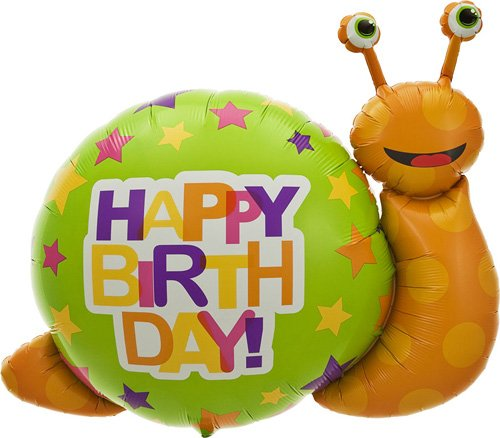 Birthday Snail Helium Foil Balloon - 41 inch