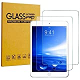 [2 Pack] KIQ iPad 9.7 (2017) (5th Gen) Tempered Glass Screen Protector, 9H Tough 0.30mm Bubble-Free Anti-Scratch Self-Adhere Easy-to-Install for Apple iPad 9.7 5th Gen 2017 (Color: Clear)