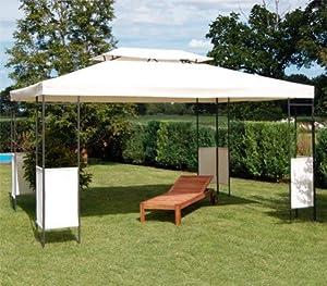 exklusiver garten pavillon metall 3x4m k che haushalt. Black Bedroom Furniture Sets. Home Design Ideas