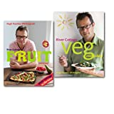 Hugh Fearnley-Whittingstall Hugh Fearnley-Whittingstall River Cottage Every Day 2 Books Collection Set, (River Cottage Veg Every Day & River Cottage Fruit Every Day!)