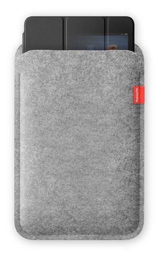 Freiwild Sleeve 7+ hellgrau-meliert  für iPad mini + Original Apple Smart Cover. Filz, Schutzhülle, Tasche, Case