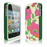New Flowers Pattern 3-Piece Hard Shell Case Cover for Apple iPhone 4 4G 4S