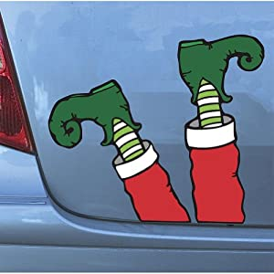 Elf Legs Magnets: Hilarious Christmas Automobile Decoration