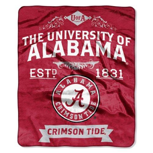 NCAA Alabama Crimson Tide College Label Raschel Throw, 50 x 60-Inch (College Football Alabama compare prices)