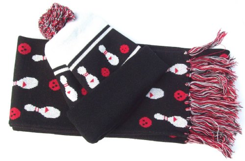 Bowling Scarf and Hat Set