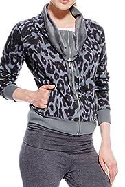 Long Sleeve Animal Print Sweat Top [T51-15649-S]