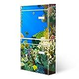 Burg-Wächter Briefkastenanlage, Design Foto Postkasten, Stahlblech weiß, MAIL 5877 W 36x64x10cm mit Motiv Unterwasserwelt