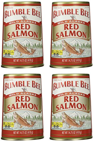 Bumble Bee Alaska Sockeye Red Salmon, 14.75-Ounce Cans (Pack of 4) (Bumble Bee Canned Salmon compare prices)