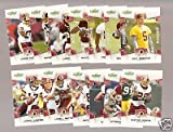 2008 Score Washington Redskins Complete Team Set of 14 cards including Clinton Portis, Colt Brennan rookie and more