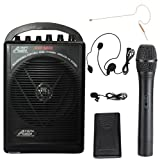 Audio2000s Awp-604-bhl/630 25w Battery Powered Dual Wireless Microphone Pa System