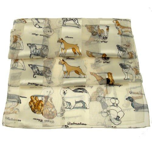 acosta-sciarpe-avorio-crema-white-dog-breeds-accessorio-alla-moda-da-donna-motivo-natalizio-con-scia