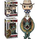 Funko POP! Jurassic Park: Dr Alan Grant + Dilophosaurus – Vinyl Figure Set NEW